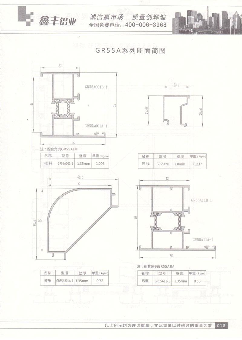 GR55A系列断面简图2