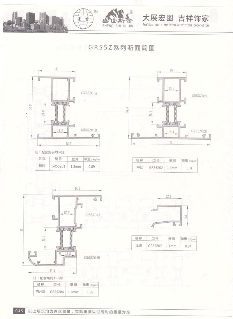 GR55Z系列断面简图3