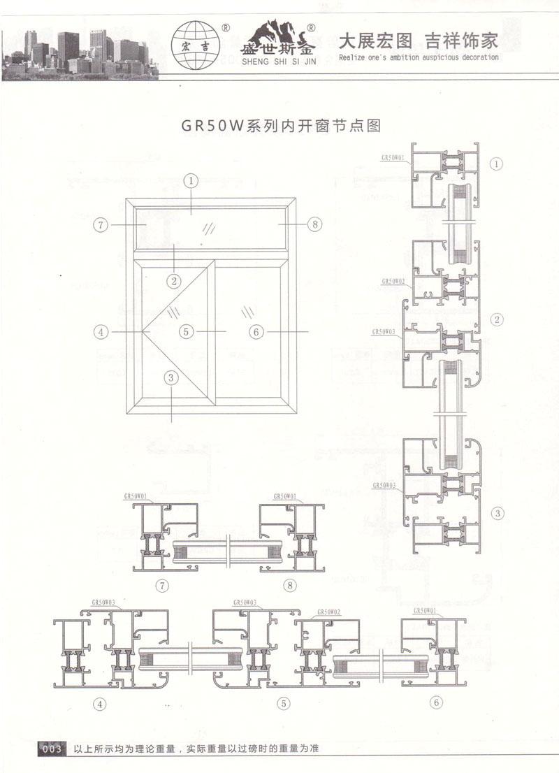 GR50系列断面简图