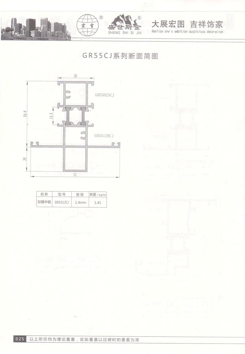 GR55CJ系列断面简图2