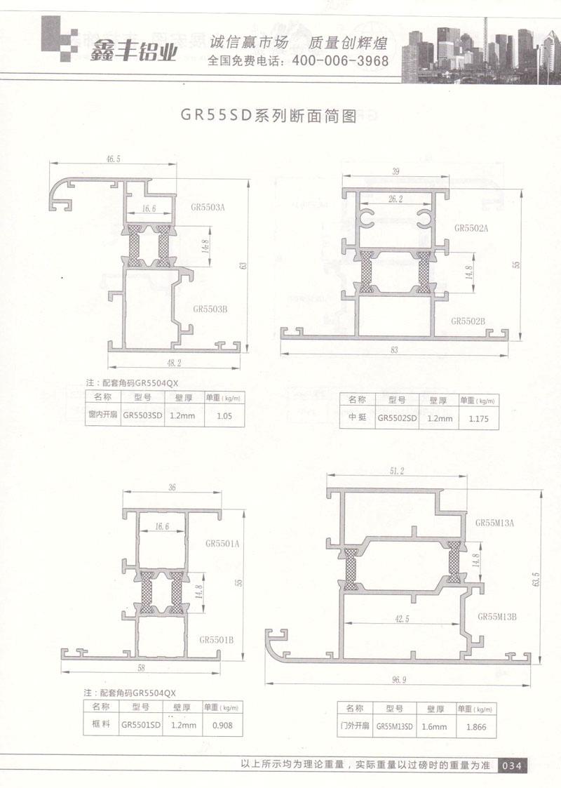 GR55SD系列断面简图 (2)