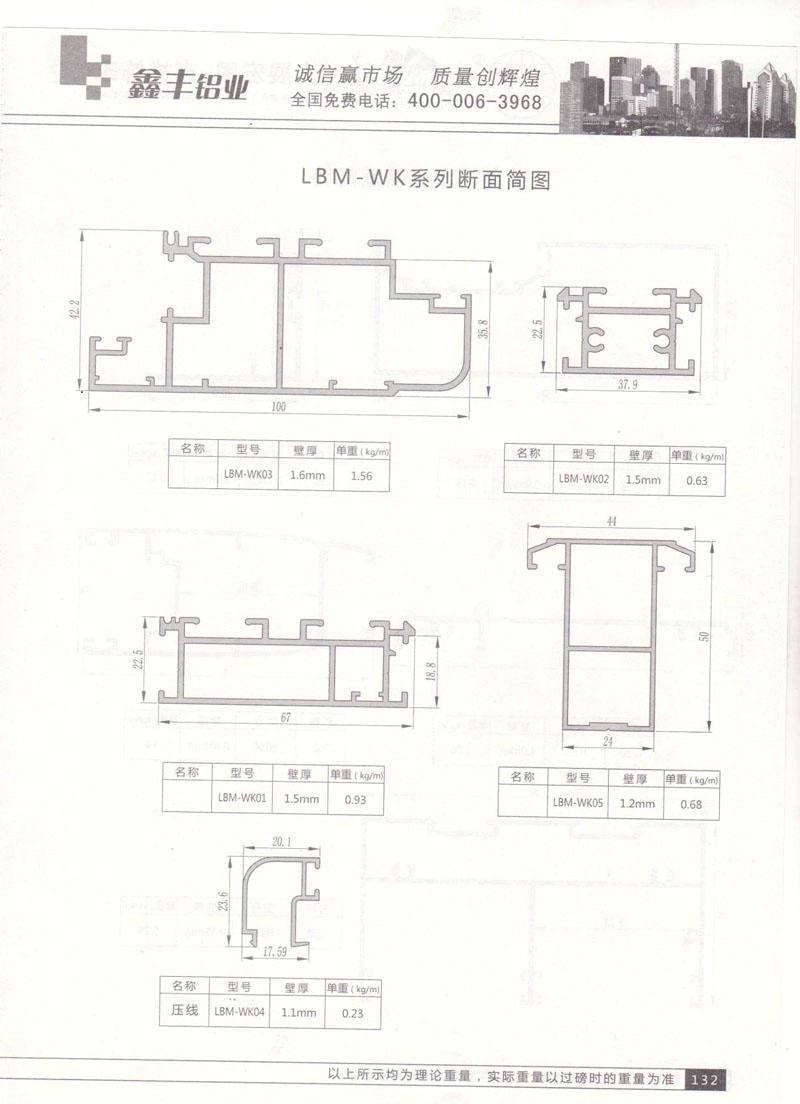LBM-WK系列断面简图