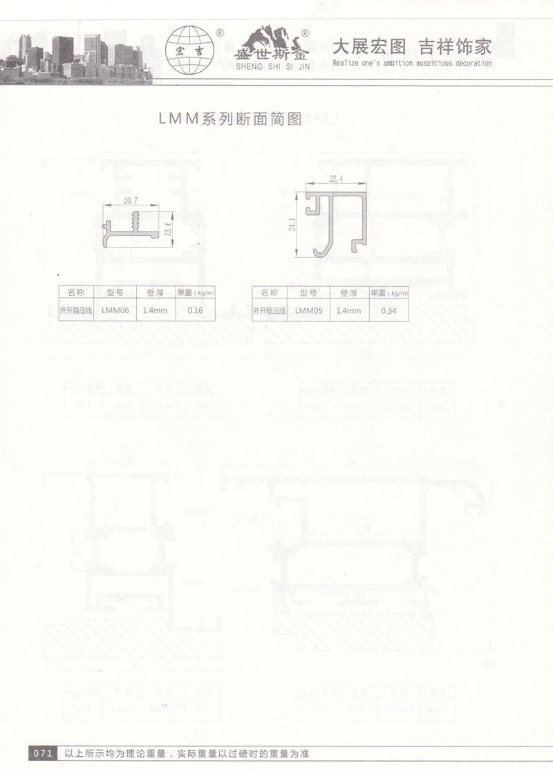 LLMM系列断面简图